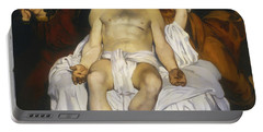Portable Battery Charger featuring the painting The Dead Christ With Angels by Edouard Manet
