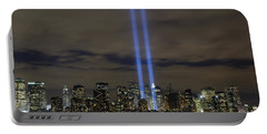 The Tribute In Light Memorial Portable Battery Charger by Stocktrek Images