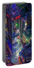 4 Times Square Portable Battery Charger by Inge Johnsson