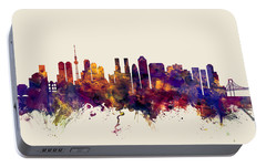 Tokyo Japan Skyline Portable Battery Charger by Michael Tompsett