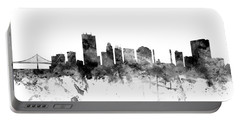 Toledo Ohio Skyline Portable Battery Charger by Michael Tompsett