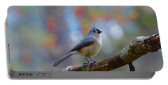 Tufted Titmouse Portable Battery Charger by Robert L Jackson