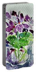 Violet Portable Battery Charger by Kovacs Anna Brigitta