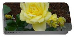 4 Yellow Roses Portable Battery Charger by Shirley Heyn