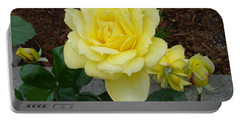 4 Yellow Roses Portable Battery Charger