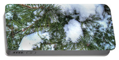 Portable Battery Charger featuring the pyrography Yury Bashkin Winter Russia by Yury Bashkin