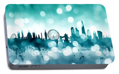 London England Skyline Portable Battery Charger by Michael Tompsett