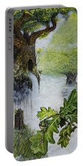 Portable Battery Charger featuring the painting No Title  by Mariusz Zawadzki