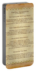 41- The Four Agreements Portable Battery Charger by Joseph Keane