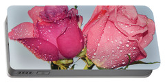 Two Roses Portable Battery Charger by Elvira Ladocki