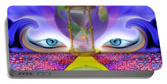 Portable Battery Charger featuring the digital art 444 Pathway by Barbara Tristan