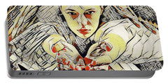 4448s-ab The Succubus Comes For You Erotica In The Style Of Kandinsky Portable Battery Charger