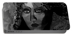 Portable Battery Charger featuring the digital art 455 - Dark Dreamer by Irmgard Schoendorf Welch