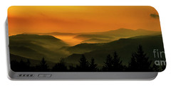 Allegheny Mountain Sunrise Portable Battery Charger by Thomas R Fletcher