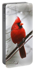 4772-001 - Northern Cardinal Portable Battery Charger by Travis Truelove