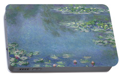 Water Lilies Portable Battery Charger by Claude Monet