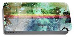 4b Abstract Expressionism Digital Collage Art Portable Battery Charger