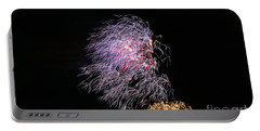 Portable Battery Charger featuring the photograph 4th Of July - Bamboo Fireworks by Craig Wood