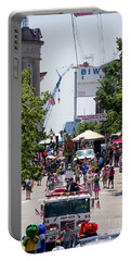 Portable Battery Charger featuring the photograph 4th Of July Parade, Front Street, Bath, Maine #40142 by John Bald