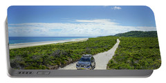 4wd Car Exploring Remote Track On Sand Island Portable Battery Charger