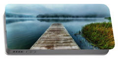 Autumn Mist On Lake Portable Battery Charger by Thomas R Fletcher