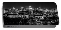 Birmingham Alabama Evening Skyline Portable Battery Charger