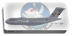 Portable Battery Charger featuring the digital art Boeing C-17 Globemaster IIi by Arthur Eggers