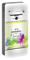 Chanel Perfume Print Portable Battery Charger