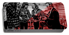 Crosby Stills Nash And Young Portable Battery Charger by Marvin Blaine