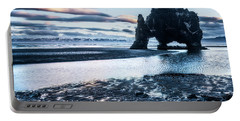 Dinosaur Rock Beach In Iceland Portable Battery Charger