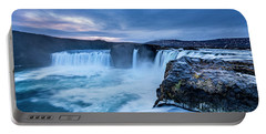 Godafoss Waterfall In Iceland Portable Battery Charger