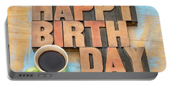 Happy Birthday Greeting Card Portable Battery Charger
