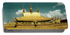 Lhasa Jokhang Temple Fragment Tibet Artmif.lv Portable Battery Charger