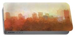 Portable Battery Charger featuring the digital art Norfolk Virginia Skyline by Marlene Watson