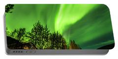 Northern Lights, Aurora Borealis At Kantishna Lodge In Denali National Park Portable Battery Charger
