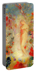 Portable Battery Charger featuring the painting Pandora by Odilon Redon