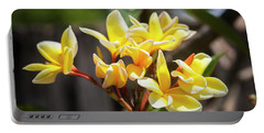Plumeria Frangipani Hawaiian Flower  Portable Battery Charger