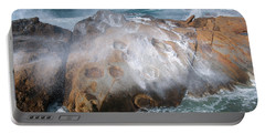 Point Lobos Concretions Portable Battery Charger by Glenn Franco Simmons