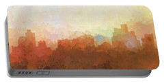 Portable Battery Charger featuring the digital art Reno Nevada Skyline by Marlene Watson