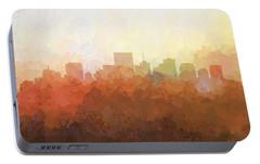 Portable Battery Charger featuring the digital art Richmond Virginia Skyline by Marlene Watson