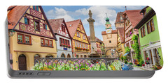 Rothenburg Ob Der Tauber Portable Battery Charger by JR Photography