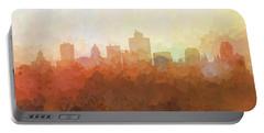 Portable Battery Charger featuring the digital art Salt Lake City Utah Skyline by Marlene Watson