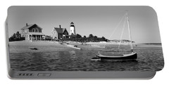 Sandy Neck Lighthouse Portable Battery Charger by Charles Harden