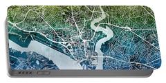 Southampton England City Map Portable Battery Charger