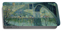 Spring Night, Harlem River Portable Battery Charger