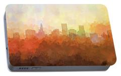 Portable Battery Charger featuring the digital art St Paul Minnesota Skyline by Marlene Watson