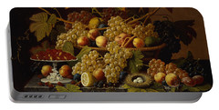 Still Life With Fruit Portable Battery Charger by Severin Roesen