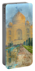 Taj Mahal In Agra India Portable Battery Charger