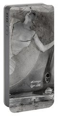 Portable Battery Charger featuring the photograph The Girl On The Background Of Vintage Car. by Andrey  Godyaykin