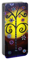 Portable Battery Charger featuring the painting Tree Of Life by Pristine Cartera Turkus